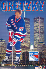 Wayne Gretzky WTC TWIN TOWERS MANHATTAN 1996 New York Rangers NHL POSTER