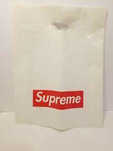 Supreme White Plastic Shopping Bag Red Box Logo 16 X 13