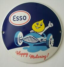 More details for stove enamel  esso happy motoring mr drip car badge plaque sign man cave garage
