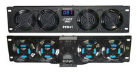 """Pyle PFN41 New 19"""" Rack Mount Cooling Fan System With Temperature System & Screw"""