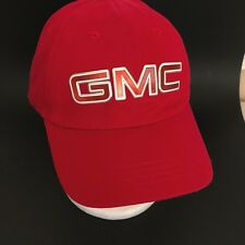 GMC Acadia Baseball Cap Hat Red Cotton One Size Adjustable Adult