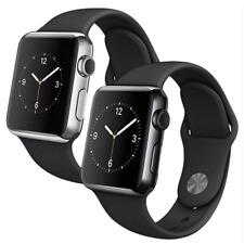 Reloj de Apple serie 2 38mm-negro espacial o de Acero Inoxidable Con Banda Negra Sport