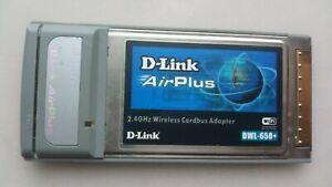D-Link AirPlus 2.4GHz Wireless Network Notebook Laptop Card DWL-G650+