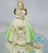 Vtg Josef Originals 18 Eighteen Year Birthday Girl Angel Figurine Applause Tag!