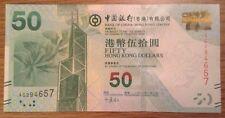Billete. 50 dólares de Hong Kong. Bank of China. fecha 2010 UNCIRCULATED.