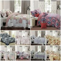 Bedspread Patchwork Quilted Bed Throw Comforter Bedding Set Single Double S King