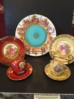 SCHOPF BAVARIA SELTMANN WEIDEN DESSERT SET FOR TWO - SPECTACULAR - WITH BONUS
