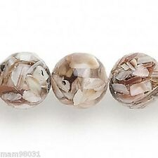 Beads Mother of Pearl MOP Shell & Resin Round ~ Various Colors
