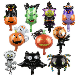 Halloween Pumpkin Ghost Balloons Decorations Spider Inflatable Toys Bat Party