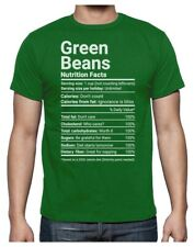 Thanksgiving Shirt Funny Green Beans Nutrition Facts Christmas Tee T-Shirt