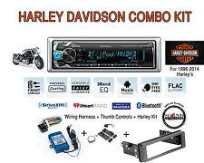 Harley Touring Kenwood Marine KMR-M312BT Bluetooth Radio Stereo Kit Adapter