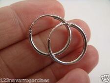 Pendientes de aro 15 mm,plata de ley 925 redondo