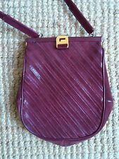 ORIGINAL SAC LANCEL A BANDOULIERE APPLICATIONS CUIR ET DAIM BORDEAUX