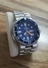 Deep Blue Diver Watch Sea Diver 1K 1000m Water Resistant Blue Dial