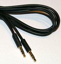 Slim 3.5mm Mini Stereo Jack Plug to Plug Slim Black flexible cable 1m