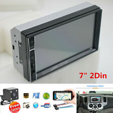 2 DIN 7'' HD Touch Screen Car Stereo Radio MP5 Player+Night Vision Rear Camera
