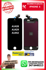 LCD TOUCH SCREEN VETRO DISPLAY SCHERMO PER IPHONE 5 NERO A1428 A1429 A1442
