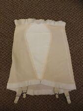 Pillow Tabbed Vtg 50s 60s NEW Open Bottom Shaper Girdle w/ Nylon Garters S 25/26
