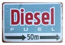 DIESEL FUEL - OIL PETROL STATION CAR GARAGE WORKSHOP METAL PLAQUE TIN SIGN B257