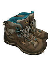 Keen Dry Durand Mid Hiking Work Boots Gray/Teal 1011555 USA MADE Women's 6.5 M