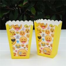 6 x Emoji Kids Popcorn Sweet Box Party Happy Birthday Superhero