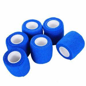 6 PCS First Aid Medical Self-Adhesive Elastic Bandage Gauze Tape Blue, 5cm