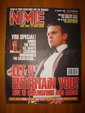 NME 1998 AUG 29 ROBBIE WILLIAMS MANICS VERVE CATATONIA