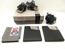Vintage 1985 NINTENDO Console & Game Lot : Jackal, Bases Loaded, Blades of Steel