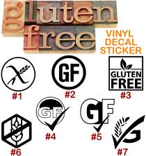 Gluten Free Food Vinyl Decal Sticker Car Wall Window Laptop Diet Health Business