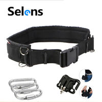 Adjustable Camera Waist Padded Belt Lens Case Pouch Bag Holder Pack Strap Buckle