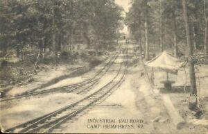 pc12683 postcard Camp Humphreys Virginia Raiolroad postally used 1918