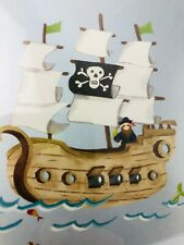 Pirate Ship Room Mates Wall Stickers Mural Decals Boat Ocean New Removable