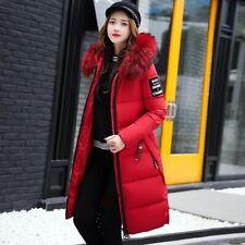 Veste d'hiver doudoune manteau parka longue femme capuche fourrure rembourrer