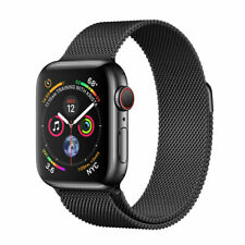 Apple Watch Series 4 44mm Space Black SS Case Black Milanese Loop GPS/CELL NEW