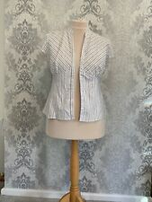 Size 16 Tu Blouse Shirt Top Fitted Sexy With Belt Loops