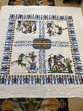 New ListingVintage Tablecloth Aztec Linen Textiles 52� X 52�