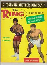 THE RING MAGAZINE GEORGE FOREMAN-JACK DEMPSEY BOXING HOFers COVER JULY 1974