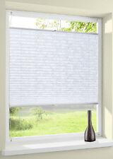 Plissee weiß Muster Sichtschutz verspannt Klemmfix ohne Bohren Easyfix Faltrollo