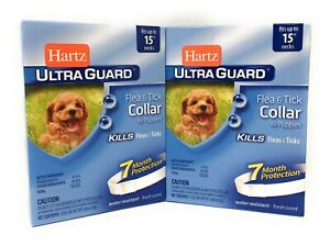 Flea Tick Collar for Puppies 2 PACK 7 Months Protection Fits Necks Up to 15 Inch