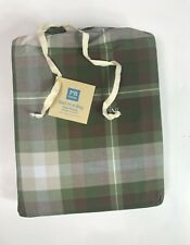 POTTERY BARN Teen Parker Plaid Bed In A Bag Size Twin XL Green & Brown