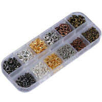 Wholesale One Box 12mm Mixed Lobster Claw Clasps 0.7x5mm Jump Rings 6 Colors