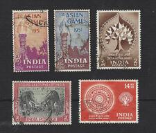 INDIA 1951 ASIAN GAMES / GEOLOGICAL SURVEY, 1956 BUDDHA JAYANT SETS, VGU