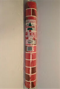 Red Brick Corrugated Paper 10 sq ft Corobuff Christmas Decor Fireplace 1 Roll