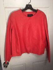 174. Longchamp Red Lamb Leather Jacket Blazer M Net A  Porter
