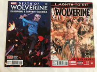 DEATH Of WOLVERINE: Deadpool & Captain America & WOLVERINE ANNUAL -TWO ISSUE LOT