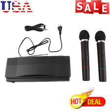 Professional Dual Channel UHF Wireless Microphone System w/ 2 Handheld Mics V