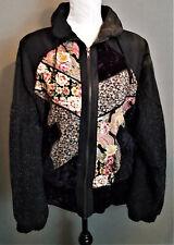 Rock Creek Fall/Winter Jacket Charcoal Floral Design Size Large