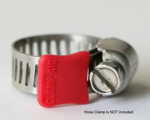 """20 Clamp-aid hose clamp safety caps for 5/16"""" wide hose clamp bands in Red"""