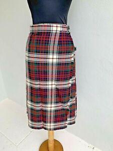 Vintage Scottish Tartan Kilt Side Buckle Skirt - size Extra Small