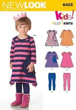 NEW LOOK SEWING PATTERN JUST 4 KNITS KIDS DRESS & LEGGINGS SIZE 1/2 - 4  6423
